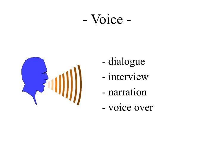 - Voice -