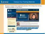 campus vue training materials