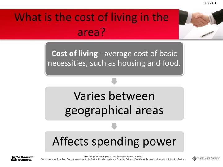 What is the cost of living in the area?