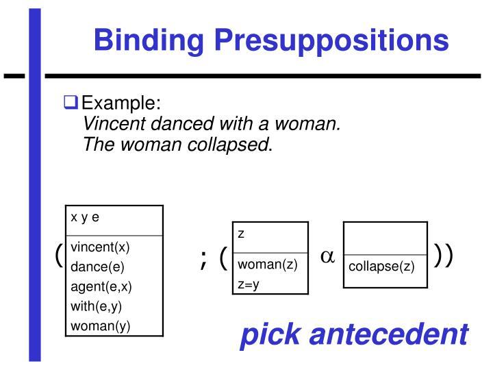 Binding Presuppositions