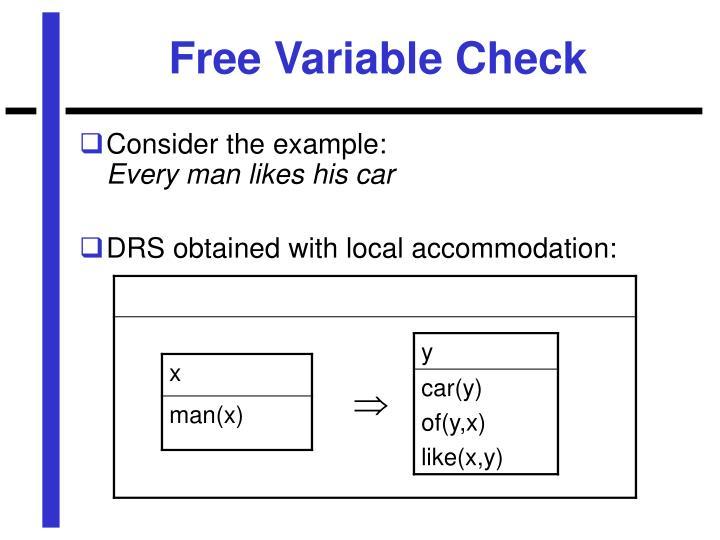 Free Variable Check