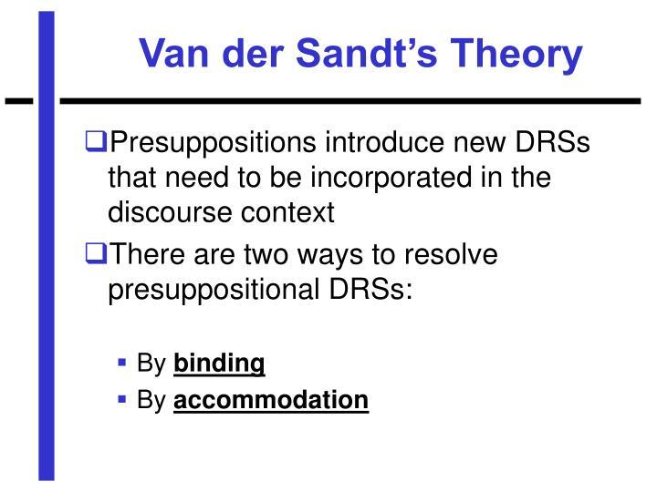 Van der Sandt's Theory