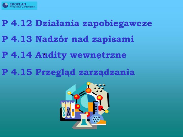 P 4.12 Działania zapobiegawcze