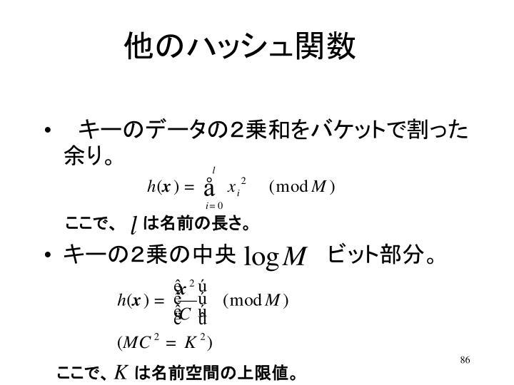 他のハッシュ関数
