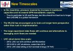 new timescales