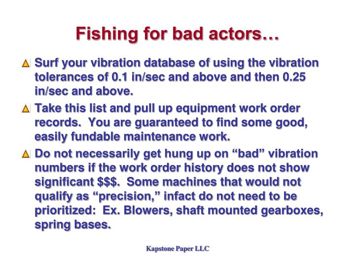 Fishing for bad actors…
