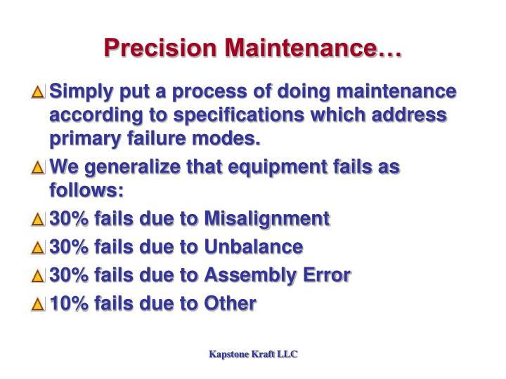 Precision Maintenance…