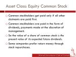 asset class equity common stock1