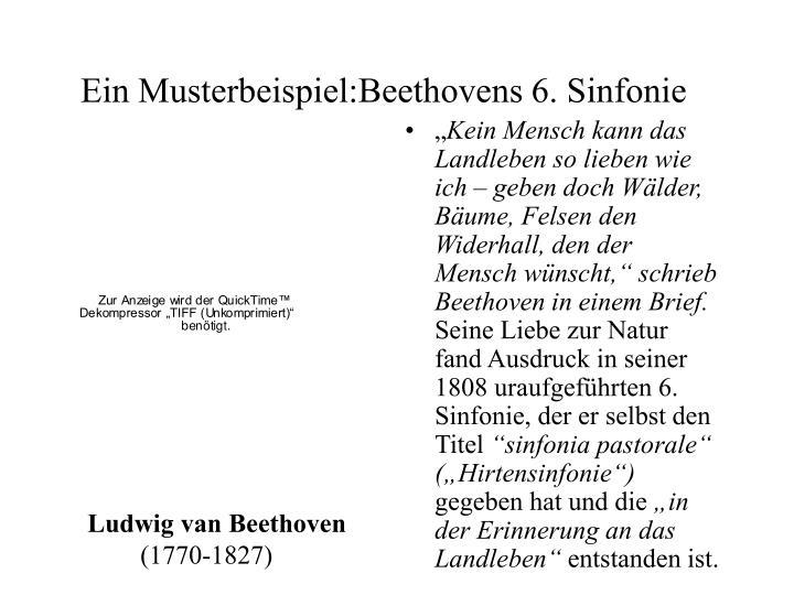 Ein musterbeispiel beethovens 6 sinfonie