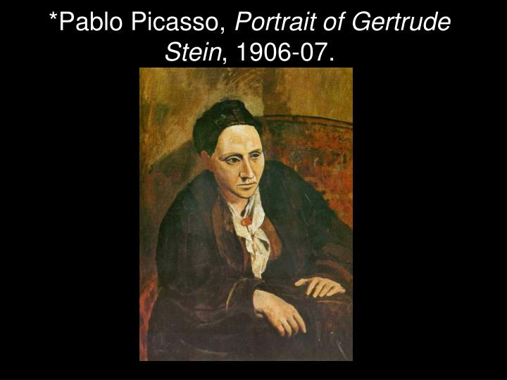 an analysis of the self portraits of gertrude stein and pablo picasso Pablo picasso's lasting effect on the as well as a few self portraits after painting gertrude stein's portrait, picasso left for spain once again and.