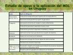estudio de apoyo a la aplicaci n del mdl en uruguay3