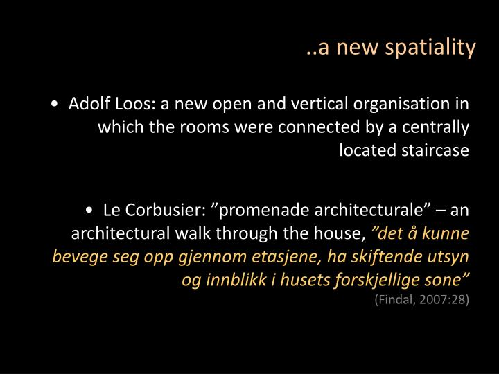 ..a new spatiality