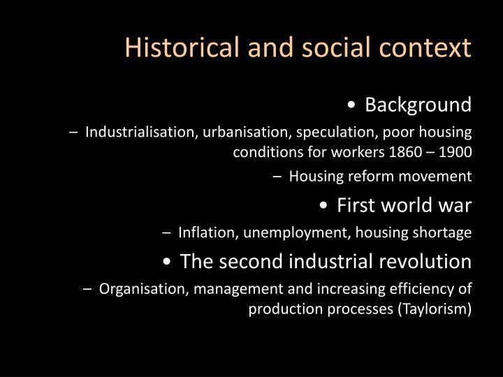 Historical and social context