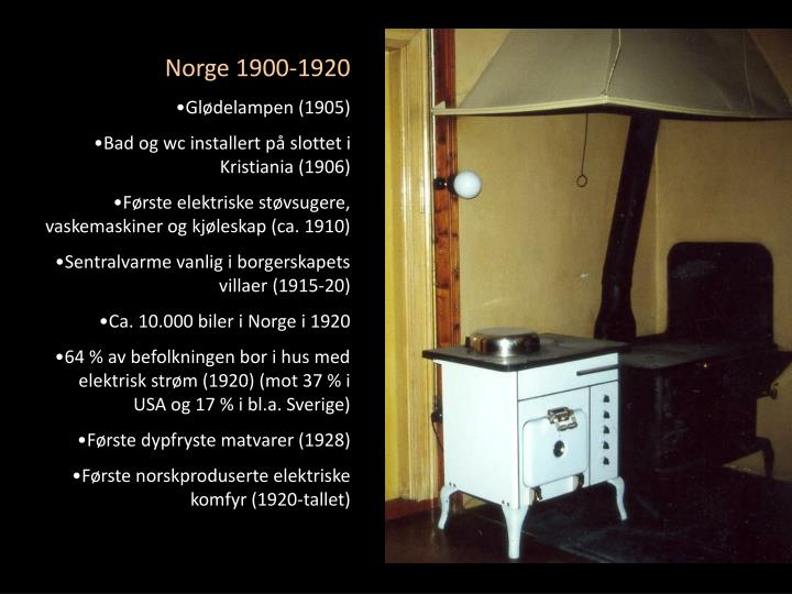 Norge 1900-1920