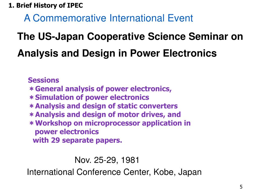 PPT - Contributions of Japan to Power Electronics and Motor Drive