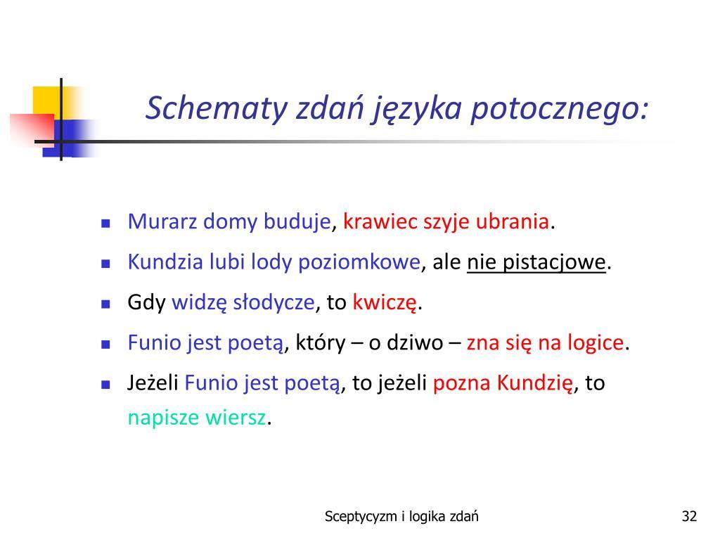 Ppt Sceptycyzm I Logika Zdań Powerpoint Presentation Free