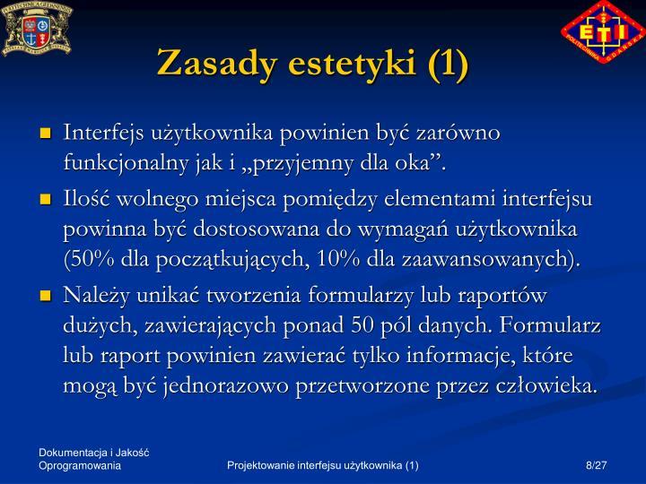 Zasady estetyki (1)