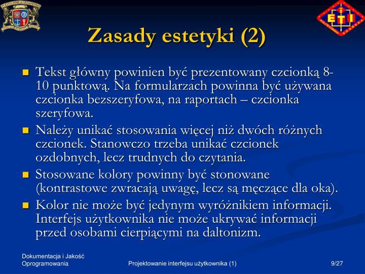 Zasady estetyki (2)