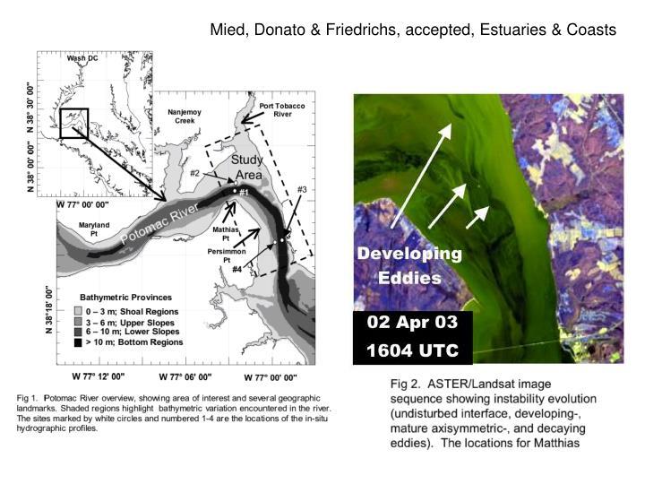 Mied, Donato & Friedrichs, accepted, Estuaries & Coasts