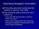 describing navigation information