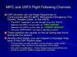mifc and usfs flight following channels