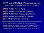 mifc and usfs flight following channels to be programmed into mn wing aircraft fm radios