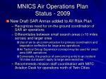 mnics air operations plan status 2009