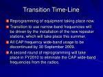 transition time line