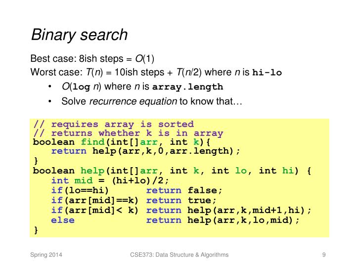 algorithm - Binary Search - Best and worst case - Stack ...