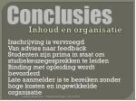 inhoud en organisatie