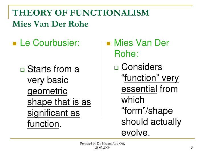 Theory of functionalism mies van der rohe1