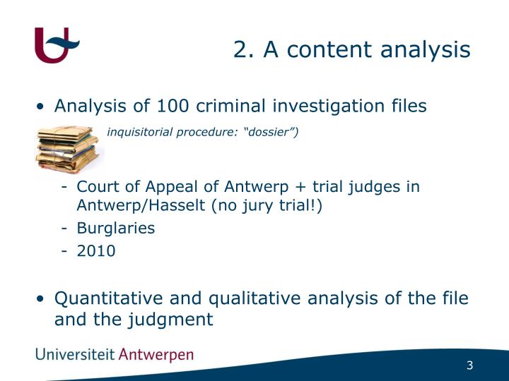 2. A content analysis