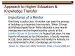 approach to higher education knowledge transfer8