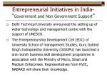 entrepreneurial initiatives in india government and non government support