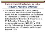 entrepreneurial initiatives in india industry academia interface2