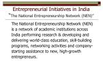 entrepreneurial initiatives in india the national entrepreneurship network nen