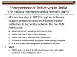 entrepreneurial initiatives in india the national entrepreneurship network nen1