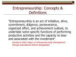 entrepreneurship concepts definitions1