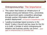 entrepreneurship the importance1