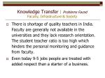 knowledge transfer problems faced faculty infrastructure society