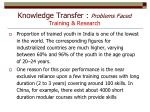 knowledge transfer problems faced training research2