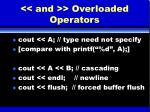 and overloaded operators