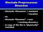 include preprocessor directive