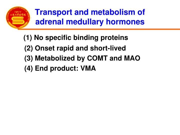 Transport and metabolism of