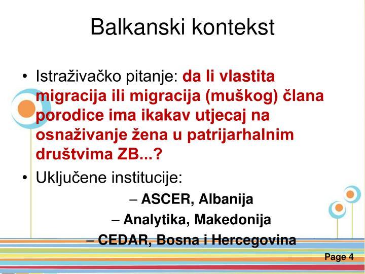 Balkanski kontekst