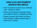 cena kao instrument marketing miksa
