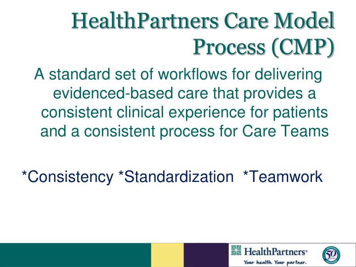 HealthPartners Care Model Process (CMP)
