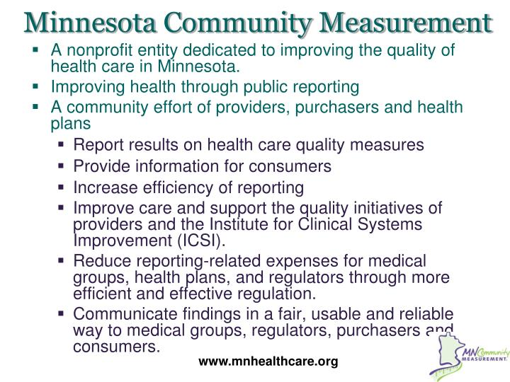 Minnesota Community Measurement