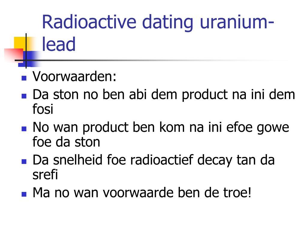 radioactieve dating PowerPoint presentatie