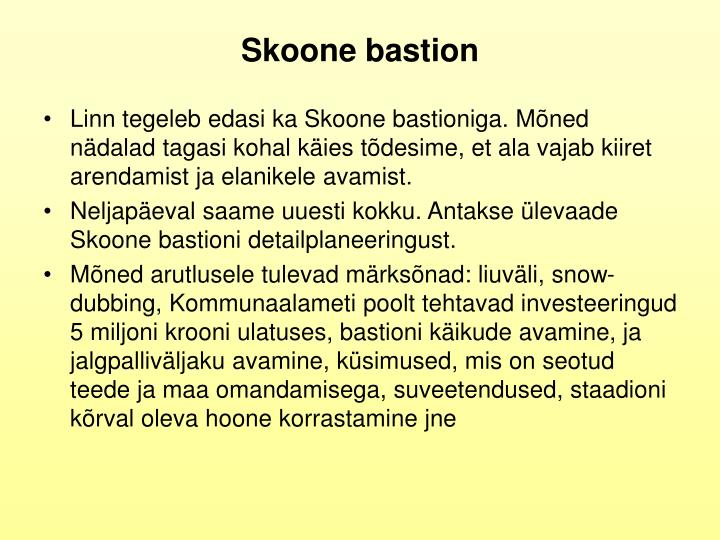 Skoone bastion